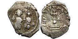 1 Hexagram Impero bizantino (330-1453) Argento Eraclio (575-641)
