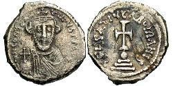 1 Hexagram Byzantinisches Reich (330-1453) Silber Constans II (630-668)
