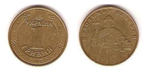 1 Hryvnia Ukraine (1991 - ) Copper/Nickel