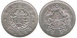 1 Jiao Volksrepublik China Silber