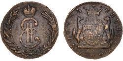 1 Kopeke Russisches Reich (1720-1917) Kupfer Katharina II (1729-1796)