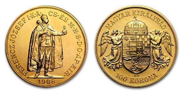 1 Korona Королiвство Угорщина (1000-1918) Золото