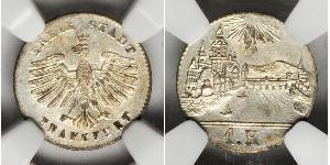1 Kreuzer 德国 銀