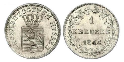 1 Kreuzer Grand-duché de Hesse (1806 - 1918) Argent Louis II de Hesse