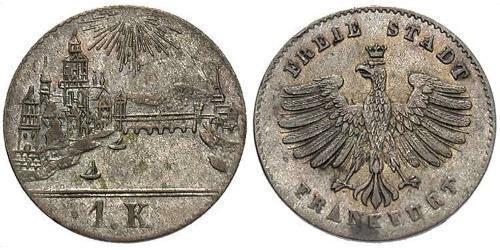 1 Kreuzer Germania Argento
