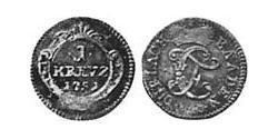 1 Kreuzer Margrave of Baden-Durlach (1535 - 1771) Billon