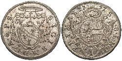 1 Kreuzer Salzburg Billon