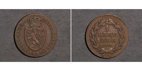 1 Kreuzer Ducado de Nassau (1806 - 1866) Cobre