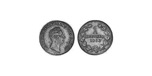 1 Kreuzer Gran Ducado de Baden (1806-1918) Cobre Leopoldo I de Baden(1790 – 1852)