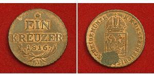 1 Kreuzer Imperio austríaco (1804-1867) Cobre Francis II, Holy Roman Emperor (1768 - 1835)