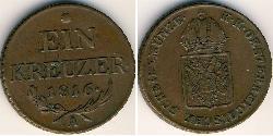 1 Kreuzer Austrian Empire (1804-1867) Copper Francis II, Holy Roman Emperor (1768 - 1835)