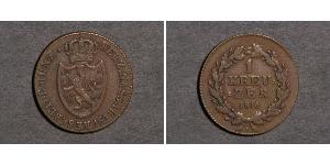 1 Kreuzer Duchy of Nassau (1806 - 1866) Copper
