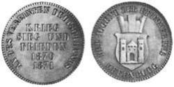 1 Kreuzer Grand Duchy of Baden (1806-1918) Copper Frederick I, Grand Duke of Baden (1826 - 1907)