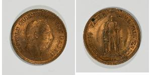 1 Kreuzer Grand Duchy of Baden (1806-1918) Copper Leopold, Grand Duke of Baden (1790 – 1852)