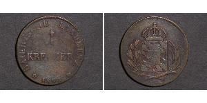 1 Kreuzer Kingdom of Bavaria (1806 - 1918) Copper Maximilian I Joseph of Bavaria (1756 - 1825)