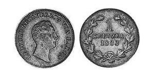 1 Kreuzer Grand Duchy of Baden (1806-1918) Kupfer Leopold (Baden)(1790 – 1852)