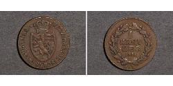 1 Kreuzer Herzogtum Nassau (1806 - 1866) Kupfer