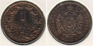 1 Kreuzer Kaisertum Österreich (1804-1867) Kupfer