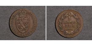 1 Kreuzer Nassau (stato) (1806 - 1866) Rame