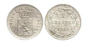1 Kreuzer Großherzogtum Hessen (1806 - 1918) Silber Ludwig II. (Hessen-Darmstadt)