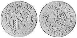 1 Kreuzer Margraviate of Baden (1112 - 1803) Silver