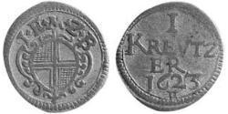 1 Kreuzer Principality of Ansbach (1398–1792) Silver Joachim Ernst, Margrave of Brandenburg-Ansbach (1583 – 1625)
