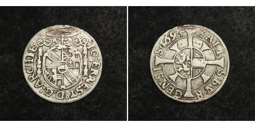 1 Kreuzer Salzburg Silver