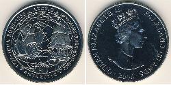 1 Krone 福克兰群岛 銅 伊丽莎白二世 (1926-)