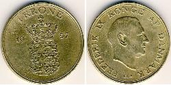 1 Krone 丹麦 青铜/铝