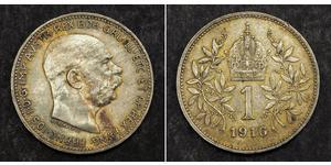 1 Krone Autriche-Hongrie (1867-1918) Argent Franz Joseph I (1830 - 1916)