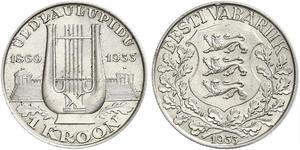 1 Krone Estonia (Republic) Argento
