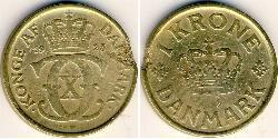 1 Krone Dänemark Bronze/Aluminium