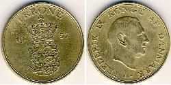 1 Krone Denmark Bronze/Aluminium