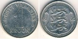 1 Krone Estonia (1991 - ) Copper/Nickel