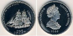 1 Krone Tristan da Cunha Copper/Nickel Elizabeth II (1926-)