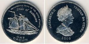 1 Krone Tristan da Cunha (archipel) Cuivre/Nickel Elizabeth II (1926-)
