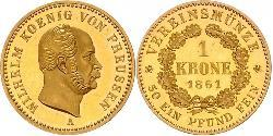 1 Krone Kingdom of Prussia (1701-1918) Gold Wilhelm I, German Emperor (1797-1888)