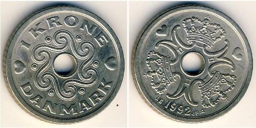 1 Krone Dänemark Kupfer/Nickel