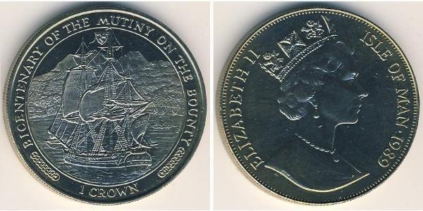 1 Krone Isla de Man Níquel/Cobre