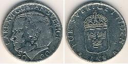 1 Krone Suecia Níquel/Cobre Carlos XVI Gustavo de Suecia