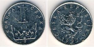 1 Krone Tschechoslowakei  (1918-1992) Nickel/Stahl