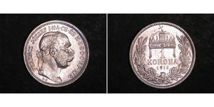 1 Krone Imperio austrohúngaro (1867-1918) Plata Franz Joseph I (1830 - 1916)