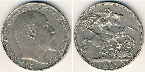 1 Krone Reino Unido Plata