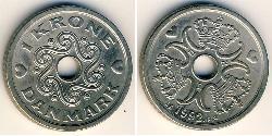 1 Krone Danimarca Rame/Nichel