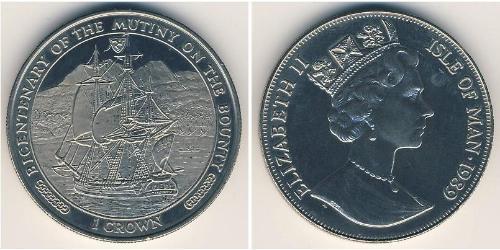 1 Krone Isola di Man Rame/Nichel