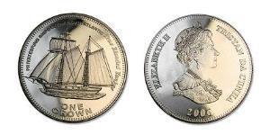 1 Krone Tristan da Cunha Rame/Nichel Elisabetta II (1926-)