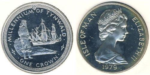 1 Krone Isle of Man Silber