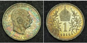 1 Krone Austria-Hungary (1867-1918) Silver Franz Joseph I (1830 - 1916)