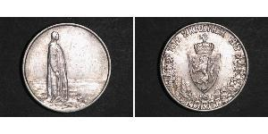 1 Krone Kingdom of Norway (1905 - ) Silver Haakon VII of Norway (1872 - 1957)