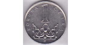 1 Krone Czechoslovakia (1918-1992) Steel/Nickel